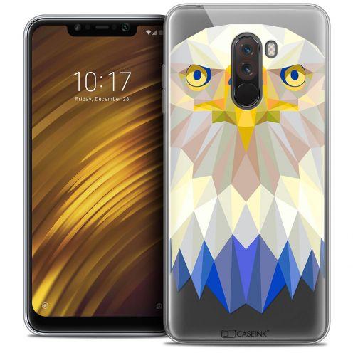 "Carcasa Crystal Gel Extra Fina Xiaomi Pocophone F1 (6.18"") Polygon Animals Águila"
