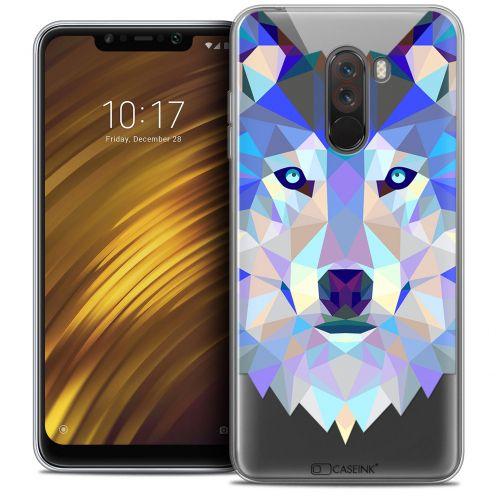 "Carcasa Crystal Gel Extra Fina Xiaomi Pocophone F1 (6.18"") Polygon Animals Lobo"
