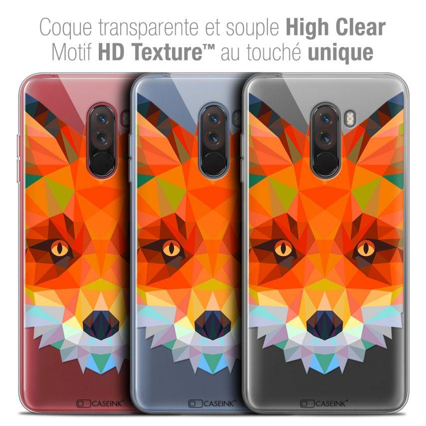"Carcasa Crystal Gel Extra Fina Xiaomi Pocophone F1 (6.18"") Polygon Animals Zorro"
