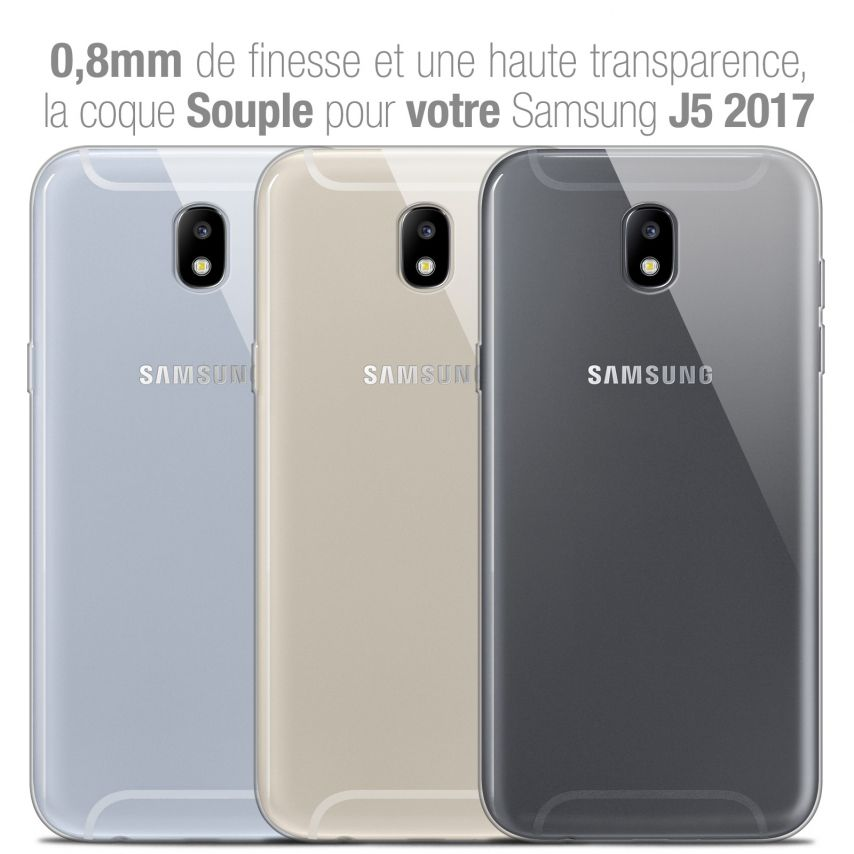 "Carcasa Extra Fina 1 mm Flexible Crystal Clear para Samsung Galaxy J5 2017 J530 (5.2"")"