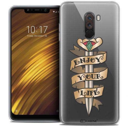 "Carcasa Crystal Gel Extra Fina Xiaomi Pocophone F1 (6.18"") Tatoo Lover Enjoy Life"