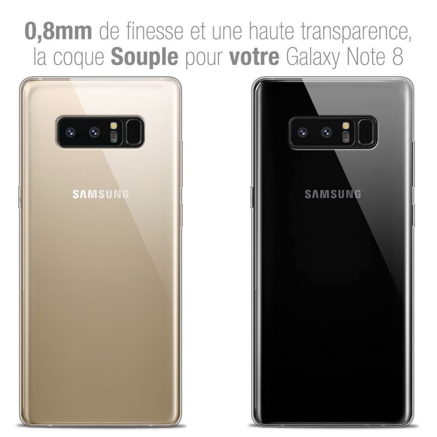 "Carcasa Extra Fina 1 mm Flexible Crystal Clear para Samsung Galaxy Note 8 (6.3"")"