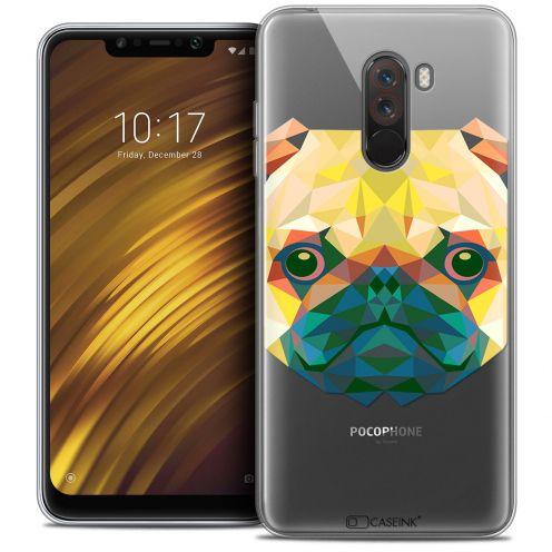 "Carcasa Crystal Gel Extra Fina Xiaomi Pocophone F1 (6.18"") Polygon Animals Perro"