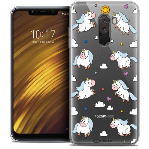 "Carcasa Crystal Gel Extra Fina Xiaomi Pocophone F1 (6.18"") Fantasia Licorne In the Sky"