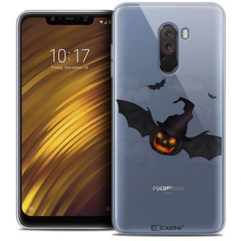 "Carcasa Crystal Gel Extra Fina Xiaomi Pocophone F1 (6.18"") Halloween Chauve Citrouille"