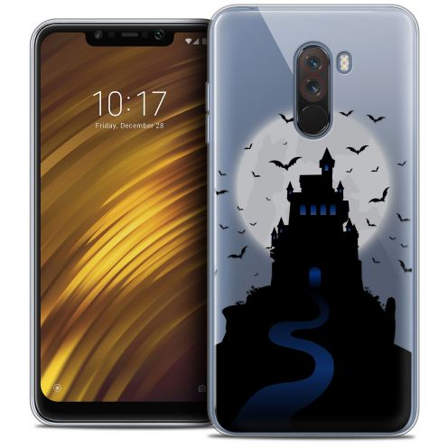 "Carcasa Crystal Gel Extra Fina Xiaomi Pocophone F1 (6.18"") Halloween Castle Nightmare"