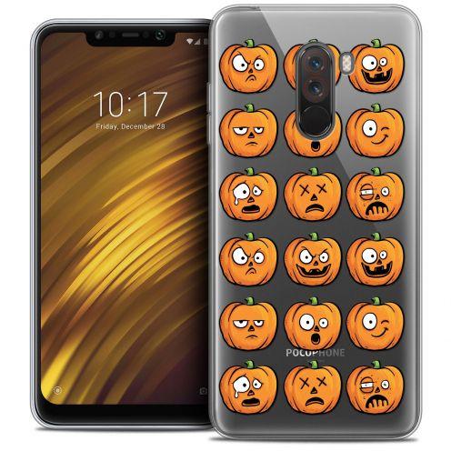 "Carcasa Crystal Gel Extra Fina Xiaomi Pocophone F1 (6.18"") Halloween Cartoon Citrouille"
