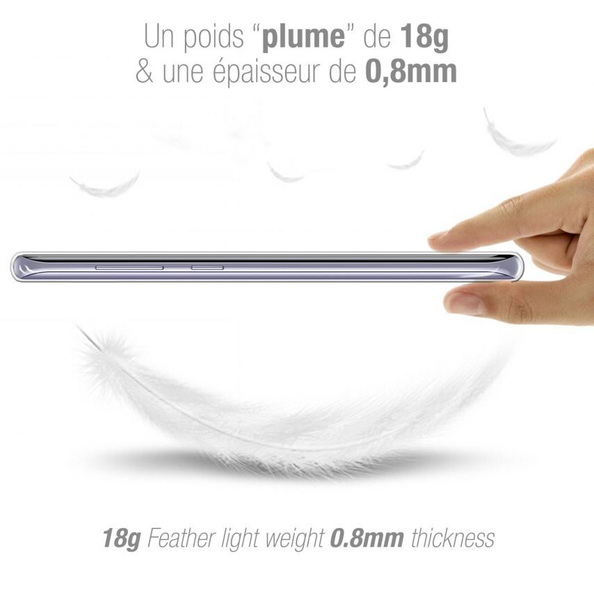 Carcasa Extra Fina 1 mm Flexible Crystal Clear para Samsung Galaxy S8 Plus (+)