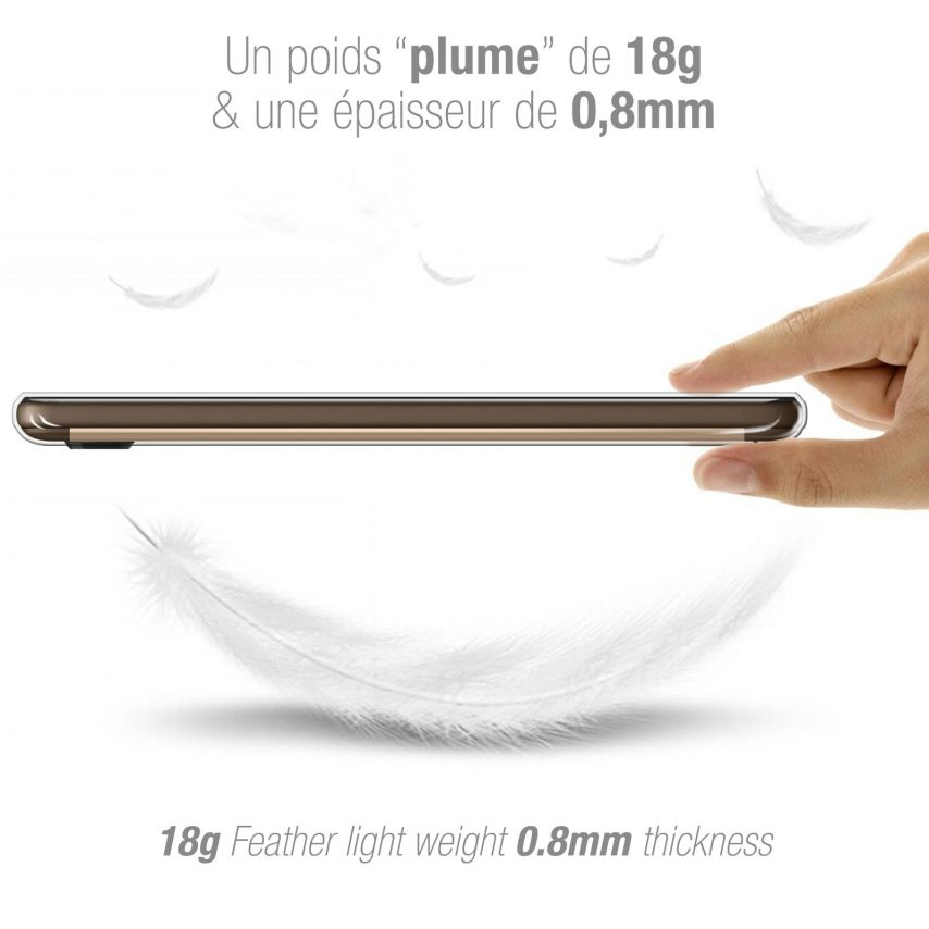 Carcasa Extra Fina 1 mm Flexible Crystal Clear para Wiko U Feel Lite