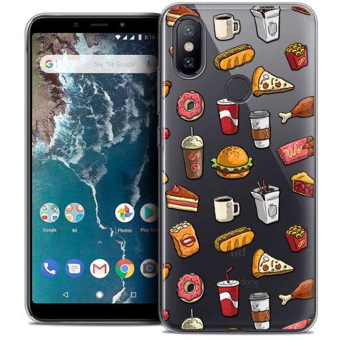 """Carcasa Crystal Gel Extra Fina Xiaomi Mi A2 (5.99"""") Foodie Fast Food"""