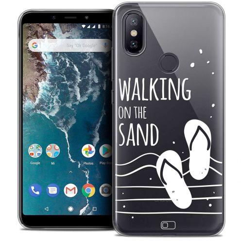 "Carcasa Crystal Gel Extra Fina Xiaomi Mi A2 (5.99"") Summer Walking on the Sand"