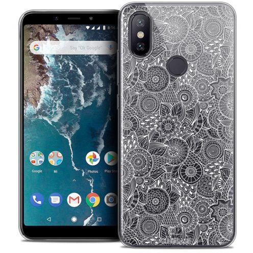 "Carcasa Crystal Gel Extra Fina Xiaomi Mi A2 (5.99"") Dentelle Florale Blanc"