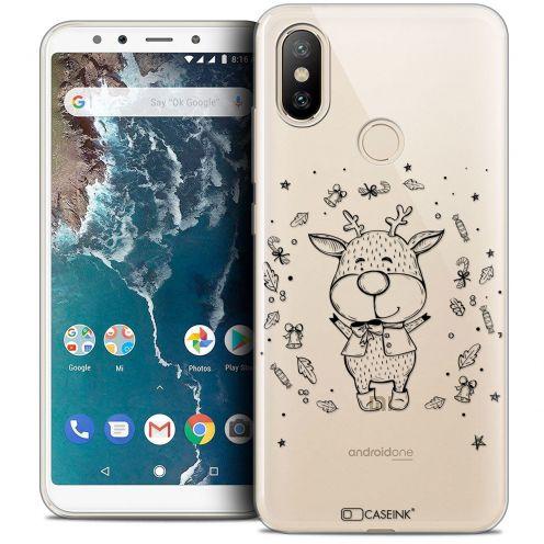"Carcasa Crystal Gel Extra Fina Xiaomi Mi A2 (5.99"") Noël 2017 Sketchy Cerf"