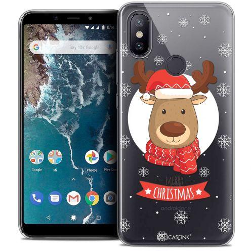"""Carcasa Crystal Gel Extra Fina Xiaomi Mi A2 (5.99"""") Noël 2017 Cerf à Echarpe"""