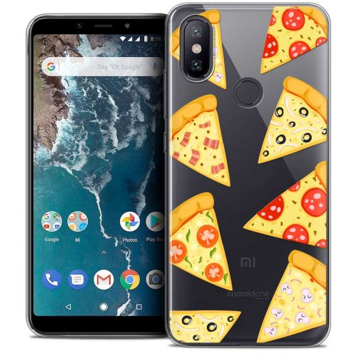 "Carcasa Crystal Gel Extra Fina Xiaomi Mi A2 (5.99"") Foodie Pizza"