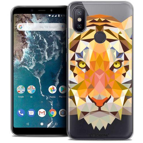 "Carcasa Crystal Gel Extra Fina Xiaomi Mi A2 (5.99"") Polygon Animals Tigre"