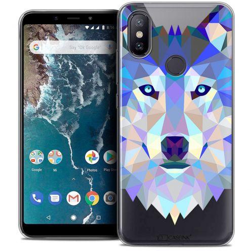 "Carcasa Crystal Gel Extra Fina Xiaomi Mi A2 (5.99"") Polygon Animals Lobo"