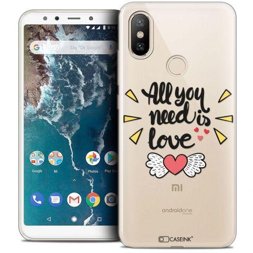 "Carcasa Crystal Gel Extra Fina Xiaomi Mi A2 (5.99"") Love All U Need Is"