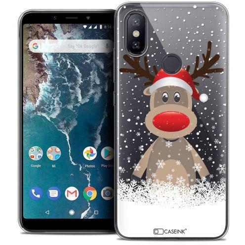 """Carcasa Crystal Gel Extra Fina Xiaomi Mi A2 (5.99"""") Noël 2017 Cerf au Bonnet"""