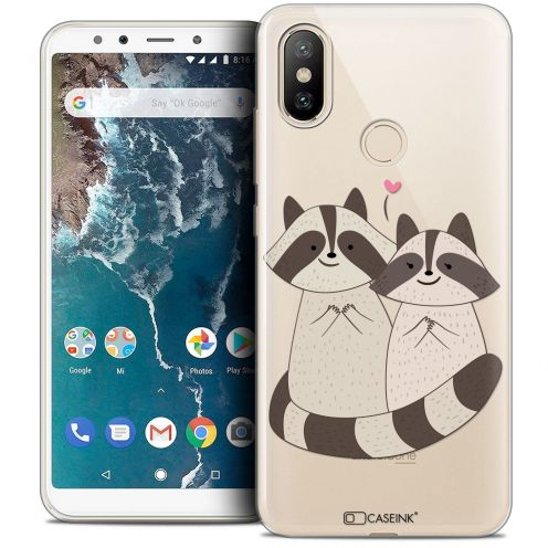 "Carcasa Crystal Gel Extra Fina Xiaomi Mi A2 (5.99"") Sweetie Racoon Love"