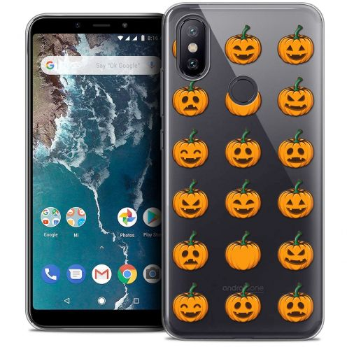 "Carcasa Crystal Gel Extra Fina Xiaomi Mi A2 (5.99"") Halloween Smiley Citrouille"