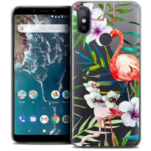 "Carcasa Crystal Gel Extra Fina Xiaomi Mi A2 (5.99"") Watercolor Tropical Flamingo"
