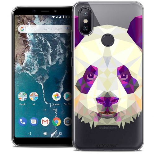 "Carcasa Crystal Gel Extra Fina Xiaomi Mi A2 (5.99"") Polygon Animals Panda"