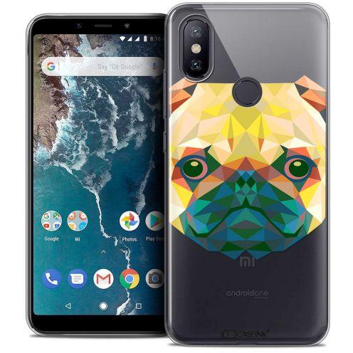 "Carcasa Crystal Gel Extra Fina Xiaomi Mi A2 (5.99"") Polygon Animals Perro"