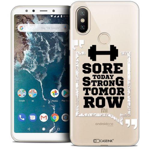 "Carcasa Crystal Gel Extra Fina Xiaomi Mi A2 (5.99"") Quote Strong Tomorrow"