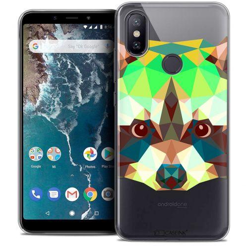 "Carcasa Crystal Gel Extra Fina Xiaomi Mi A2 (5.99"") Polygon Animals Raton Laveur"