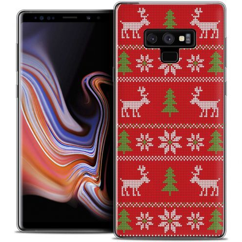 """Carcasa Crystal Gel Extra Fina Samsung Galaxy Note 9 (6.4"""") Noël 2017 Couture Rouge"""
