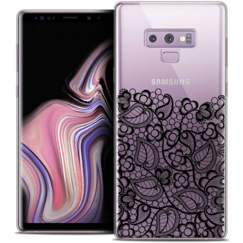 "Carcasa Crystal Gel Extra Fina Samsung Galaxy Note 9 (6.4"") Spring Bas dentelle Noir"
