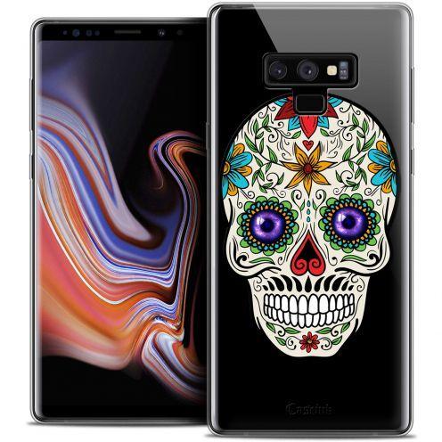 "Carcasa Crystal Gel Extra Fina Samsung Galaxy Note 9 (6.4"") Skull Maria's Flower"