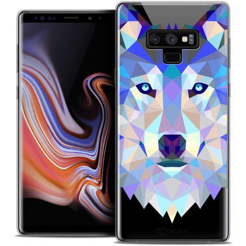 "Carcasa Crystal Gel Extra Fina Samsung Galaxy Note 9 (6.4"") Polygon Animals Lobo"