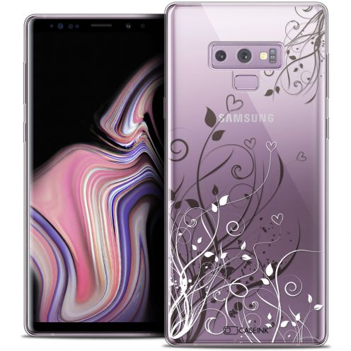 "Carcasa Crystal Gel Extra Fina Samsung Galaxy Note 9 (6.4"") Love Hearts Flowers"