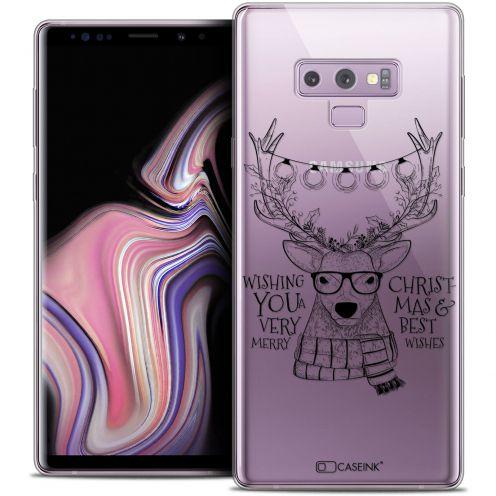 "Carcasa Crystal Gel Extra Fina Samsung Galaxy Note 9 (6.4"") Noël 2017 Cerf Hipster"