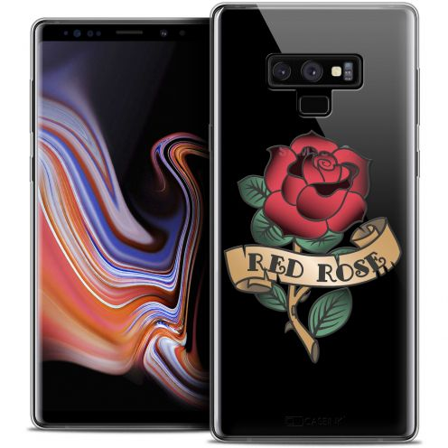 "Carcasa Crystal Gel Extra Fina Samsung Galaxy Note 9 (6.4"") Tatoo Lover Red Rose"
