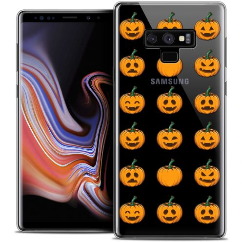 "Carcasa Crystal Gel Extra Fina Samsung Galaxy Note 9 (6.4"") Halloween Smiley Citrouille"