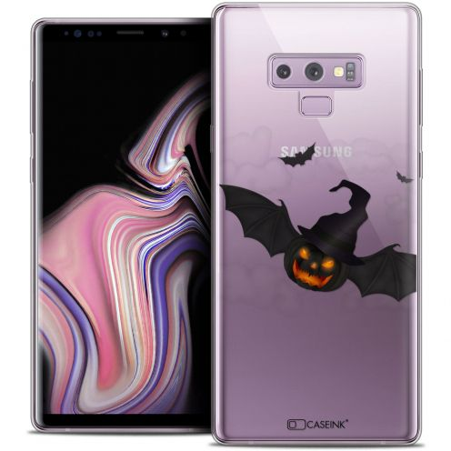 "Carcasa Crystal Gel Extra Fina Samsung Galaxy Note 9 (6.4"") Halloween Chauve Citrouille"