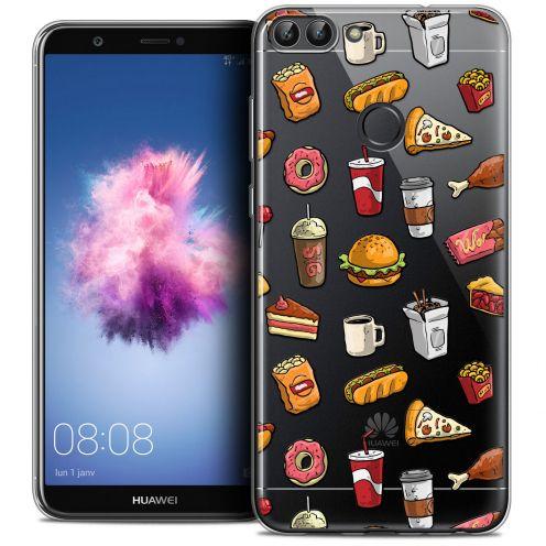 """Carcasa Crystal Gel Extra Fina Huawei P Smart (5.7"""") Foodie Fast Food"""