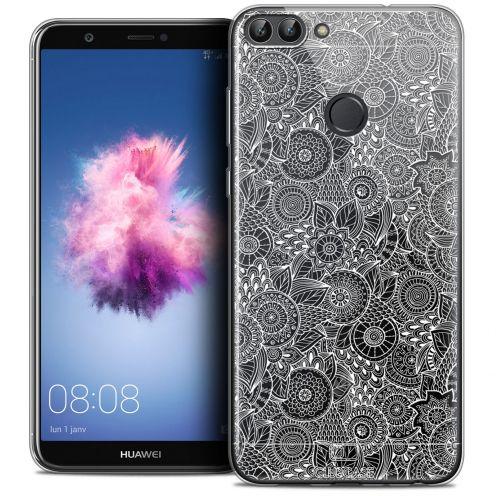 "Carcasa Crystal Gel Extra Fina Huawei P Smart (5.7"") Dentelle Florale Blanc"