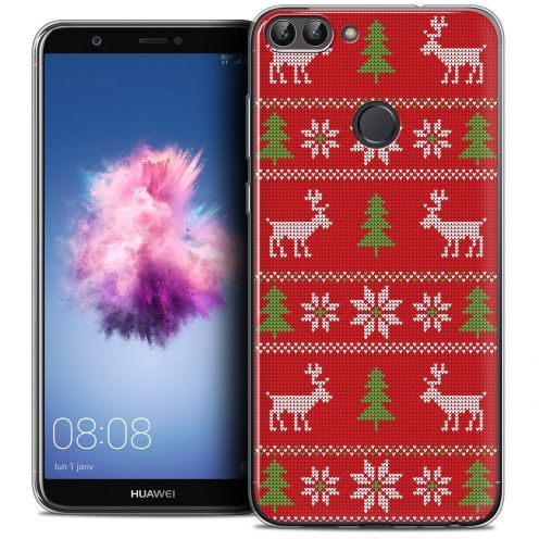 """Carcasa Crystal Gel Extra Fina Huawei P Smart (5.7"""") Noël 2017 Couture Rouge"""