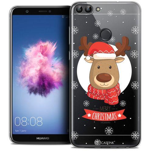 "Carcasa Crystal Gel Extra Fina Huawei P Smart (5.7"") Noël 2017 Cerf à Echarpe"