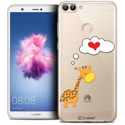 "Carcasa Crystal Gel Extra Fina Huawei P Smart (5.7"") Love Girafe Amoureuse"