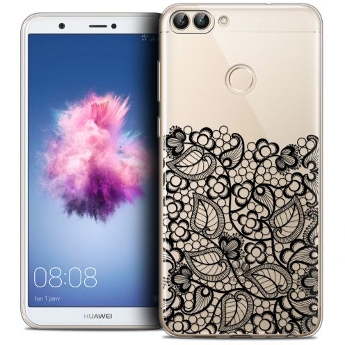 "Carcasa Crystal Gel Extra Fina Huawei P Smart (5.7"") Spring Bas dentelle Noir"