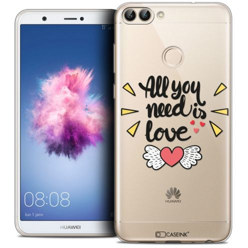 "Carcasa Crystal Gel Extra Fina Huawei P Smart (5.7"") Love All U Need Is"