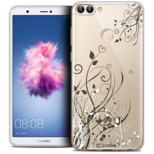 "Carcasa Crystal Gel Extra Fina Huawei P Smart (5.7"") Love Hearts Flowers"