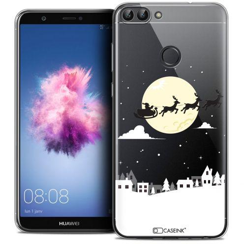 "Carcasa Crystal Gel Extra Fina Huawei P Smart (5.7"") Noël 2017 Flying Stanta"