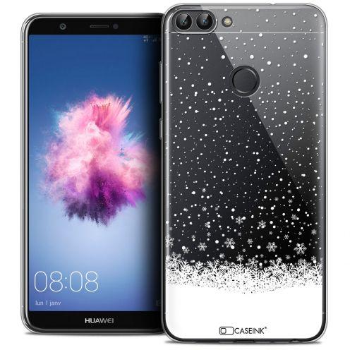 "Carcasa Crystal Gel Extra Fina Huawei P Smart (5.7"") Noël 2017 Flocons de Neige"