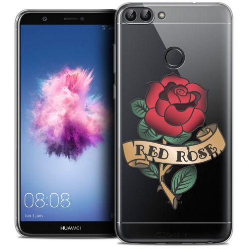 "Carcasa Crystal Gel Extra Fina Huawei P Smart (5.7"") Tatoo Lover Red Rose"